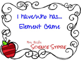 I have/Who Has...  Element Game