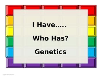 I have...Who Has? Genetics Vocabulary (editable)