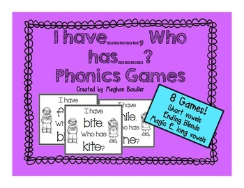 I have,Who Has? Phonics Game Bundle