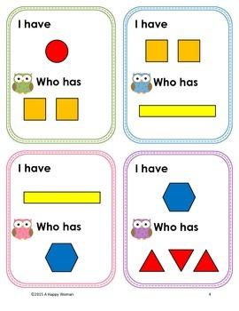 I have...Who has...? Geometric Shapes