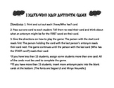 I have/Who has? Antonym Game