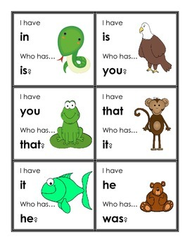 I have...Who has? FRY High Frequency Words #1-45