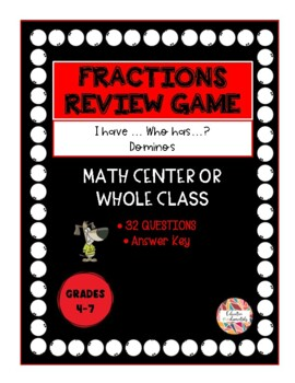 I have...Who has...? Fraction Review cards