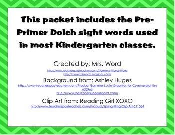 """""""I have...Who has"""" Insect/Bug Themed Pre-Primer Dolch Sight Word Game"""