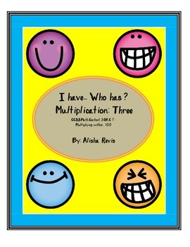 I have...Who has? Multiplication Practice 1-12