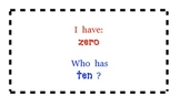 I have/Who has - Number Words