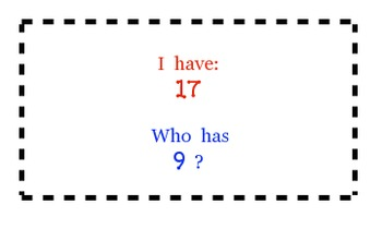 I have/Who has - Numbers