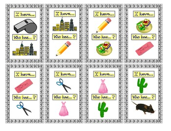I have...Who has...? Picture /S/ Articulation Practice Game- Speech Therapy