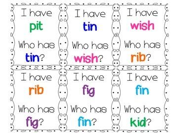 I have/Who has Short I