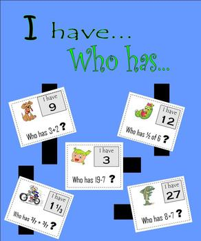 I have…Who has?  Small-group math flashcard game