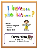I have...Who has...Contractions Game