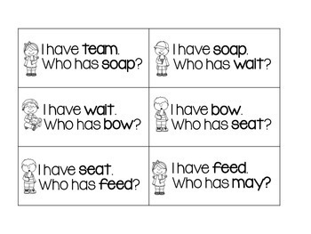 I have...Who has...Vowel Teams and CVC End of year review