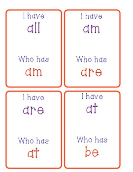 I have..who has? A fun sight word game