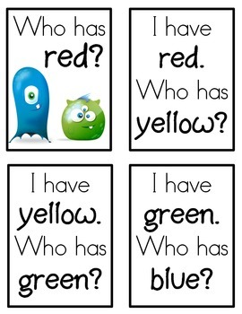 I have...who has... Color Words