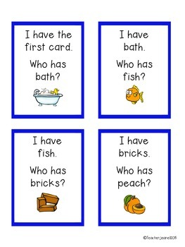 Digraphs - I have, who has game cards (with and without pictures)