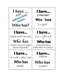 I have...who has? Familiarizing Yourself with Formulas (Pr