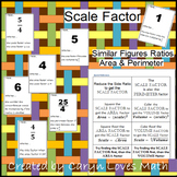 Finding Area/Perimeter & Scale Factor of Similar Figures~I have..who has..Game