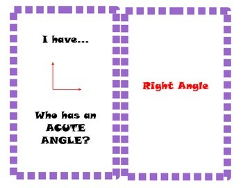 I have...who has? Lines and Angles
