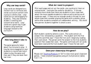 I have...who has... Loop / Follow Me game for multiplication x6
