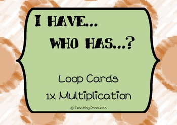 I have...who has... Loop game for multiplication x1