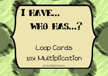 I have...who has... Loop game for multiplication x10