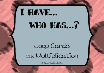 I have...who has... Loop game for multiplication x11
