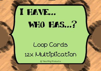 I have...who has... Loop game for multiplication x12