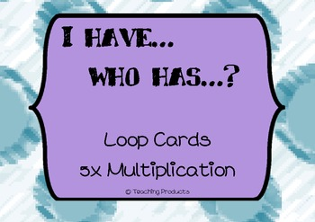 I have...who has... Loop game for multiplication x5