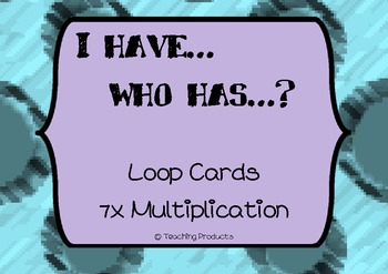 I have...who has... Loop game for multiplication x7