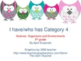 I Have/Who Has Organisms and Ecosystems - 5th Grade Science