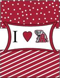 Binder Cover  heart Bama /Alabama