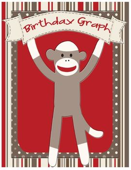 Sock Monkey Classroom Decor - Birthday Graph Display