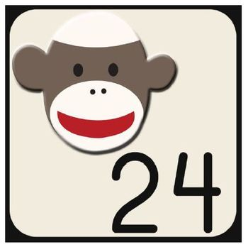 Sock Monkey Classroom Decor - Calendar Numbers