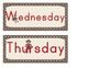Sock Monkey Classroom Decor - Days of the Week - Calendar