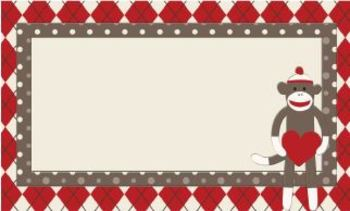 Sock Monkey Classroom Decor - Labels and Tags