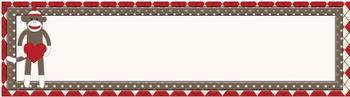 Sock Monkey Classroom Decor - Nameplates or Desk Tags