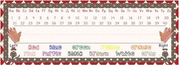 Sock Monkey Classroom Decor - Primary Nameplates or Desk Tags