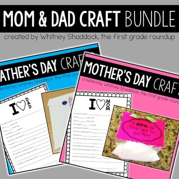 Mother's and Father's Day Crafts and Activities BUNDLE