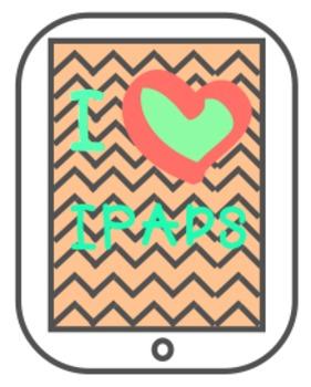 I heart iPads clip art