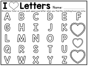 I heart letters! Letter Matching