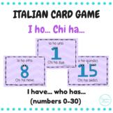 I ho... chi ha... (I have... who has...) Italian number card game