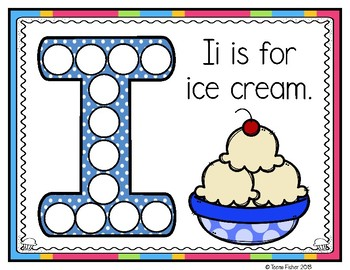 I is for Ice Cream Activity Pack Alphabet Common Core {RF.K.1}