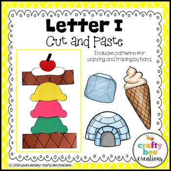 Letter I (Ice Cream) Cut and Paste