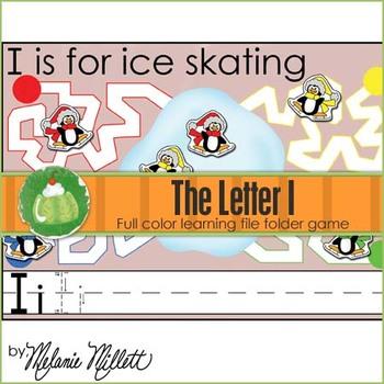 I is for Ice Skating File Folder Game