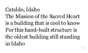 I is for Idaho flash cards