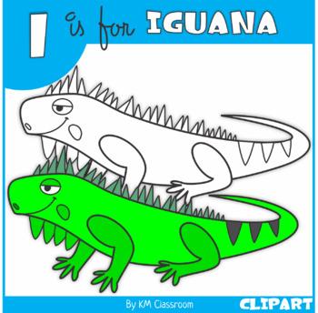 I is for Iguana Clip Art