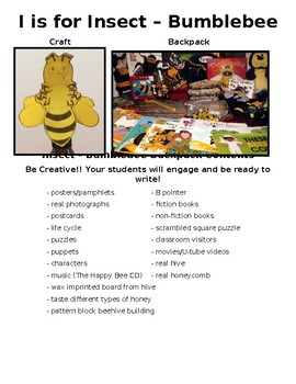 I is for Insect-The Bumblebee