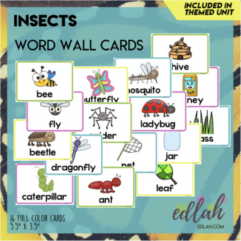 I is for Insect Word Wall Cards (set of 10)