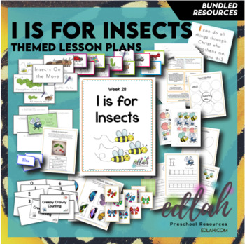 I is for Insects Themed Preschool Lesson Plans (one week curriculum)