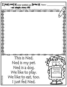 CVC Word family I just read it!  Now watch me draw it! Worksheets
